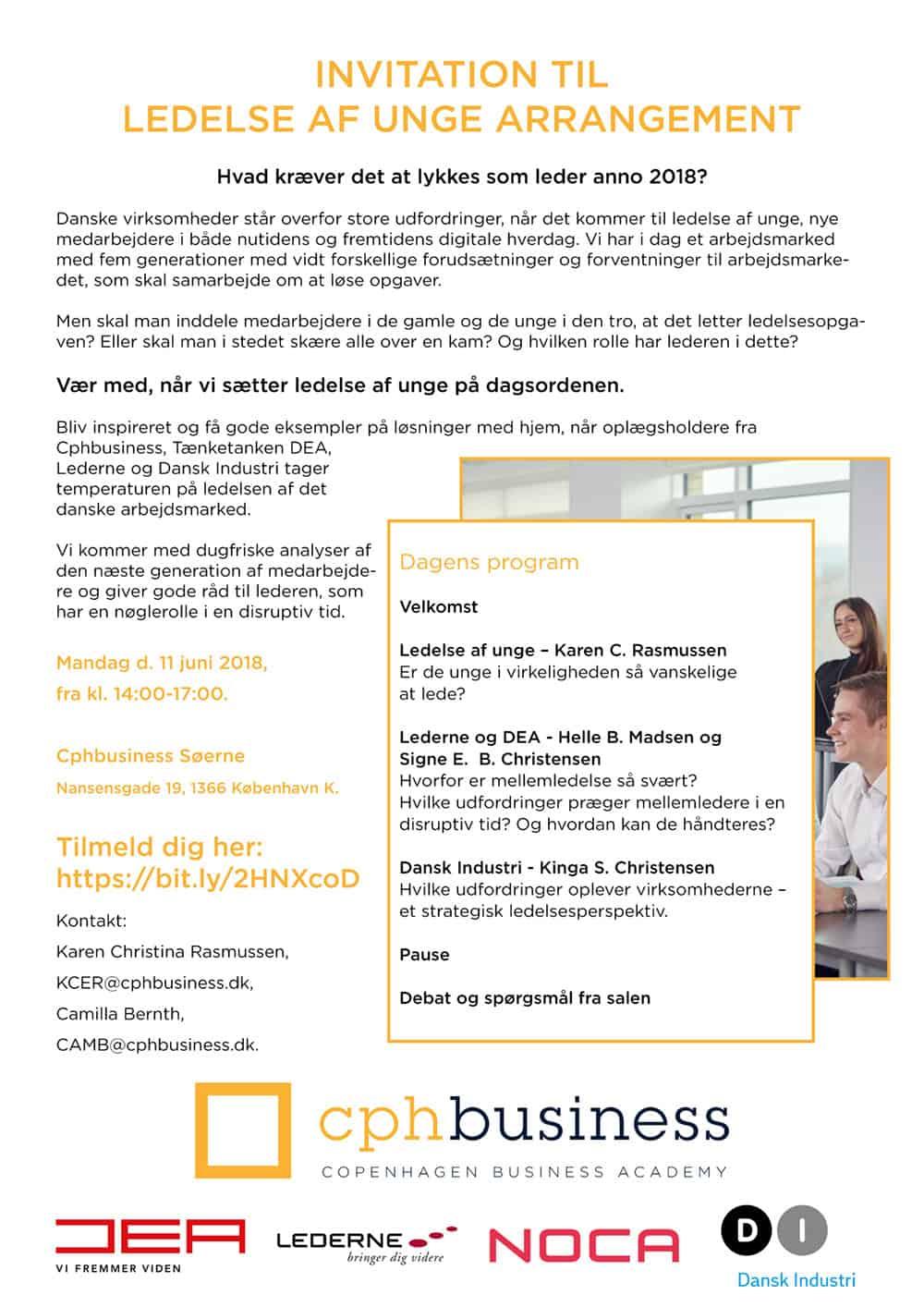 noca invitation ledelse af unge
